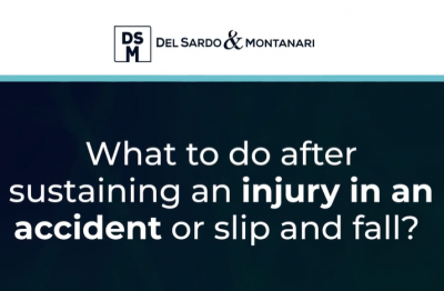 What to do after sustaining an injury in an accident or slip and fall?